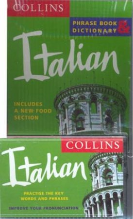 Collins Italian Phrase Book And Dictionary - Book & Tape by Various