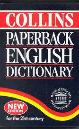Collins Paperback English Dictionary - 4 ed by Various