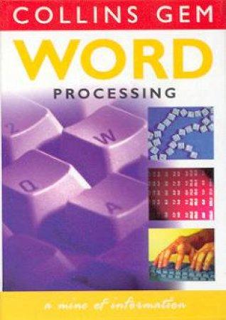 Collins Gem: Word Processing by Marjorie Lazaro