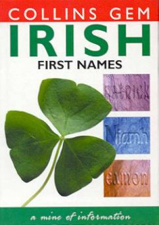 Collins Gem: Irish First Names by Various