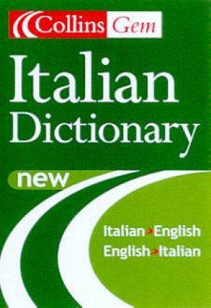 Collins Gem: Italian Dictionary - 5 ed by Various