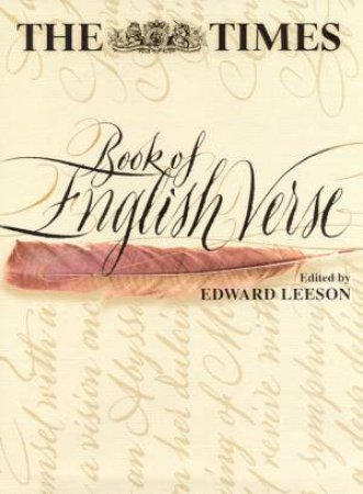 The Times Book Of English Verse by Edward Leeson