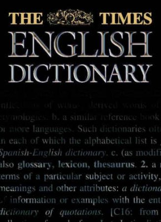 The Times English Dictionary by Various