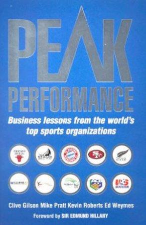 Peak Performance by Various