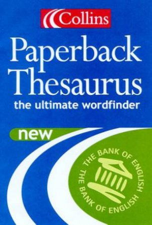 Collins Paperback English Thesaurus - 4 ed by Various