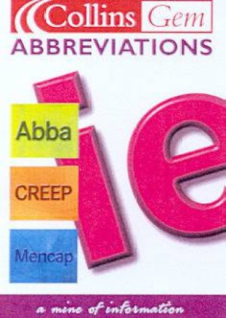 Collins Gem: Abbreviations by Graham King