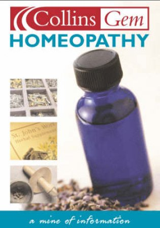 Collins Gem: Homeopathy by Various