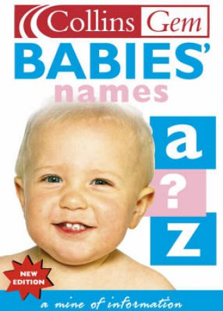 Collins Gem: Babies' Names by Various
