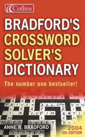 Collins Bradford's Crossword Solver's Dictionary by Various