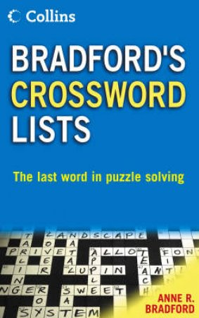 Collins Bradford's Crossword Lists by Unknown