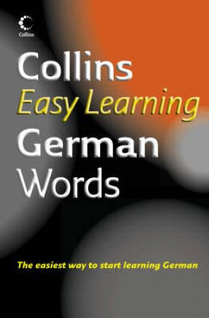 Collins Easy Learning: German Words by Unknown
