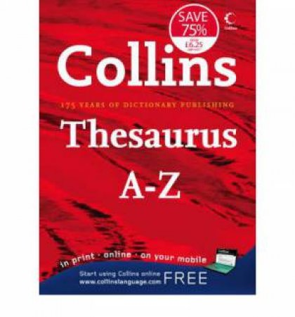 Collins Thesaurus A - Z by Various