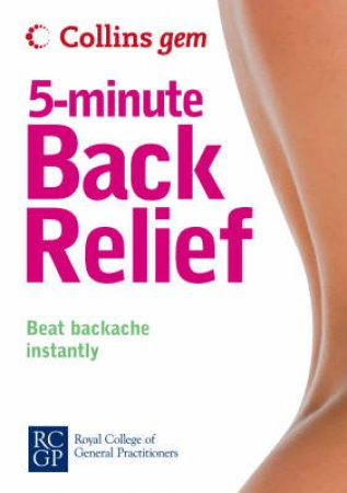Collins Gem 5 Minute Back Relief by Anne Charlish