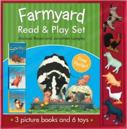 Farmyard Read And Play Set by Jonathan Langley & Michael Rosen