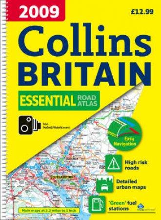 Collins Britain Essential Road Atlas 2009 by Various