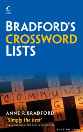 Collins Bradford's Crossword Solver's Lists by Various