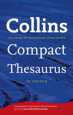 Collins Compact Thesaurus by Various