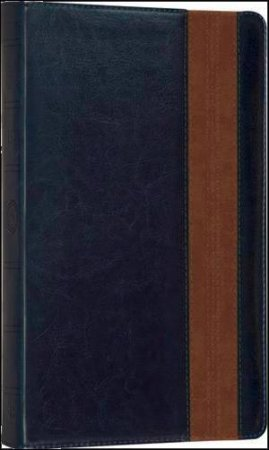 Holy Bible: English Standard Version (ESV) Anglicized Thinline Navy/Tan Band Design  by Various