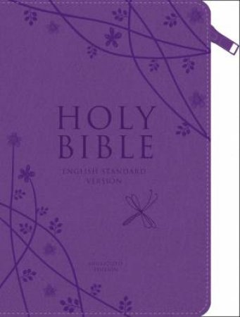 Holy Bible: English Standard Version (ESV) Zipped Compact Purple by None