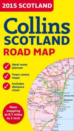 2015 Collins Map of Scotland [New Edition] by Maps Collins