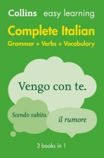 Collins Easy Learning Complete Italian Grammar Verbs And Vocabulary  2nd Ed