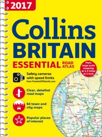 2017 Collins Essential Road Atlas Britain (New Edition)