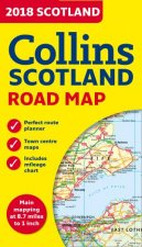 2018 Collins Map Of Scotland New Edition