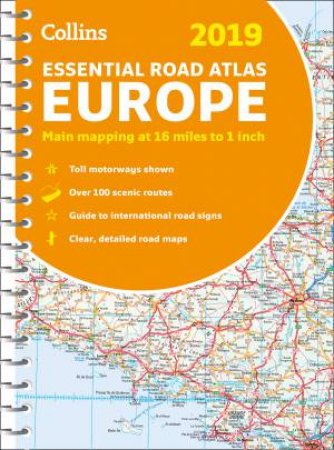 2019 Collins Essential Road Atlas Europe [New Edition]