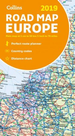 2019 Collins Map Of Europe [New Edition]