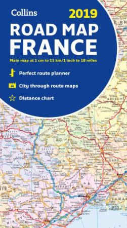 2019 Collins Map Of France [New Edition]