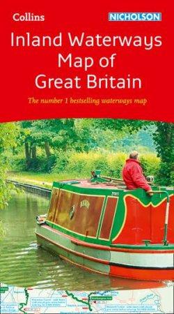 Collins Nicholson Inland Waterways Map Of Great Britain (New Edition)