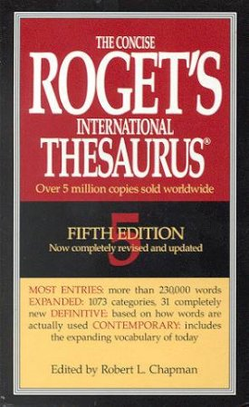 The Concise Roget's International Thesaurus - 5 ed by Various