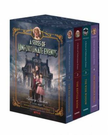 A Series Of Unfortunate Events (1-4 Netflix Tie-In Box Set)