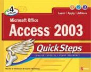 QuickSteps: Microsoft Office Access 2003 by John Cronan
