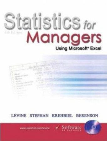 Statistics For Managers: Using Microsoft Excel - Book & CD - 4 ed by Various