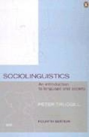 Sociolinguistics by Peter Trudgill