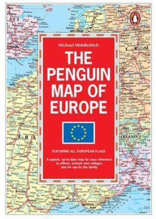 Penguin Map of Europe by Michael Middleditch