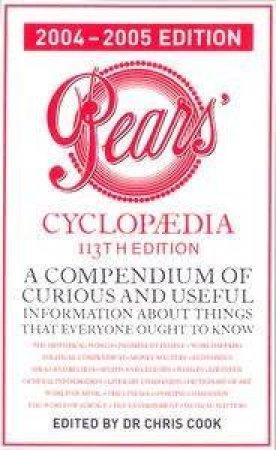 Pears Cyclopaedia 2004-2005 - 113 Ed by Chris Cook