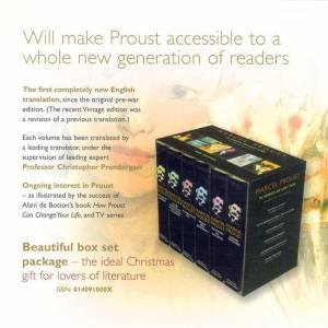In Search Of Lost Time Boxed Set by Marcel Proust
