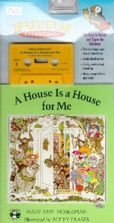 A House Is A House For Me - Book & Tape by Mary Ann Hoberman