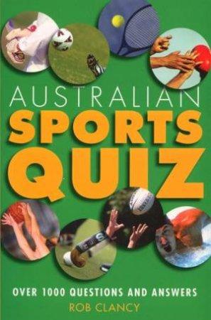 Australian Sports Quiz by Anon