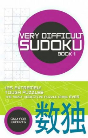 Very Difficult Sudoku: Book 1 by Carlton Books
