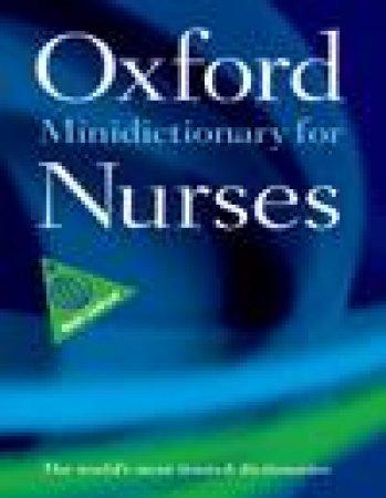 Oxford Minidictionary for Nurses by Various