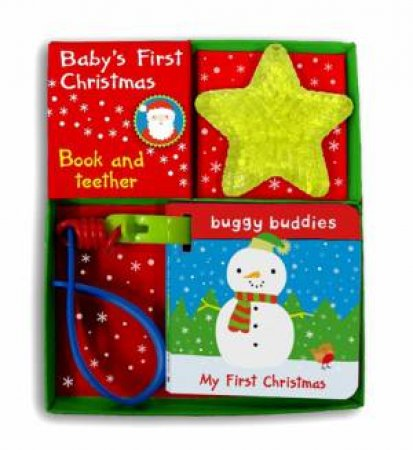 My First Christmas Buggy Buddy and Teether Pack by Melissa Four