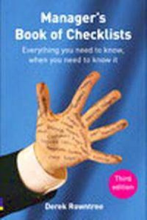 Manager's Book Of Checklists by Derek Rowntree