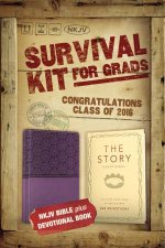2016 Survival Kit For Grads NKJV NKJV Bible plus The Story DevotionalItalian DuoTone Purple