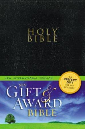 Bible: NIV UPD Gift & Award Bible - Black Leatherlook