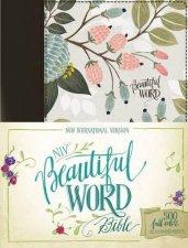 NIV Beautiful Word Bible 500 Fullcolor Illustrated Verses            Multicolor Floral Cloth