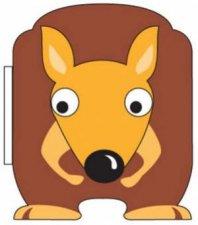 Aussie Block Book Kangaroo