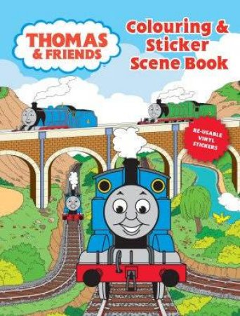 Thomas Colouring & Sticker Scene Book by None